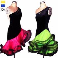 Stage Wear Adult / Enfants Robe de danse latine Femmes Filles / Dame Compétition Chama Rumba Samba Tango Dancing Performance DQ3031