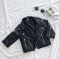 Autumn PU Chaqueta de cuero para niñas Ropa para niños pequeños Bomber Bomber Blazers 2020 New Childrenwear Outerwear Zipper Coats1