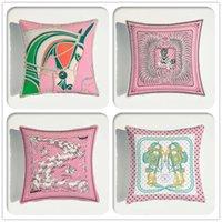 الحيوانات نمط الوردي المخملية رمي وسادة وسادة غطاء سيارة ديكور المنزل الديكور أريكة الزخرفية وسادة