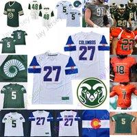 Benutzerdefinierte 2020 Colorado State Football Jersey NCAA College 7 Todd Centeiio 14 Nate Craig-Myers 1 Scott Patchan 15 Brandon Hickerson-Rooks