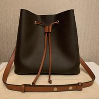Дамы одно плечо ведро сумка известный дизайнерская сумка сумки высокого качества цветочные принты мешок сумки кошелек крутой N40198