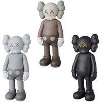 X Eye Action Toy Figuras 20cm mini boneca design moderno arte smlll mentira originalfake companheiro figura PVC Graffiti Statue Luminous Kaws