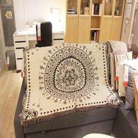 Decken Tapisserie Wandbehang Mandala Serie Druck Strand Tuch Matte Baumwolle Leinen Blanket Yoga Schal Teppich Home Kissen