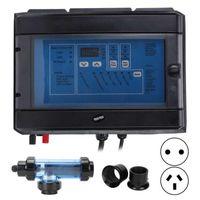 Banyo Aksesuarı Set 20G / H Tuz Klorlayıcı Sistemi 100 W Elektronik Klor Jeneratör Havuz Spa 230 ila 240 V Banyo Duş Su Arıtma