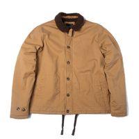 Dafeili 100% хлопок N1 Deck куртки Sherpa Подкладка Толстые Открытый пальто Теплый мужские зимние куртки