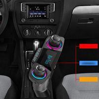 Voiture audio sans fil bluetoot mp3 lecteur FM transmetteur mains libres d'appels support TF double chargeur USB1