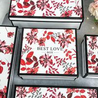 Fábrica barato festival de luxo presente de embalagem caixa caixa de papel conjunto de presente de casamento artesanal com caixa de teto com tampas