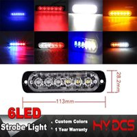12-24 V 6 LED LED Strobe Light 18 Modes Ultra-sottile Emergency Flash Attenzione Attenzione Attenzione per camion Auto Motocicli 18W A31