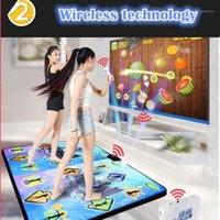 Sensores de movimento Dance Pads KL Double Mat Wireless Control Games Yoga Mats Fitness Matidão Inglês Menu para TV PC computador Flash Guide1