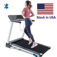US STOCK Folding Treadmill elektrischer motorisierter laufende Maschine mit Bluetooth-Lautsprechern und 3 Neigen Optionen MS194282AAA