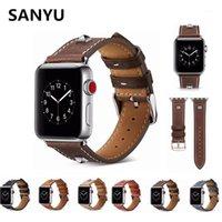 시계 밴드 Sanyu 실버 너겟 레트로 정품 가죽 밴드 시리즈 3 2 1 손목 스트랩 팔찌 버클 1