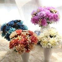 장식 꽃 화환 인공 달리아 베리 꽃다발 과일 꽃 DIY 실크 홈 파티 결혼식 휴가 장식 공예