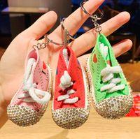 Подъемники для обуви Набор с мультфильм Love Holvas Shoes Key Chai застрял с алмазными чехлами и сумками аксессуары мультфильм любовь холст обувь