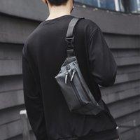 Человек талия сумка Fanny Pack водонепроницаемого Chest пакет Открытого оксфорд Crossbody мешок большой емкость женщин пояс сумка Hip талия пакеты C1026
