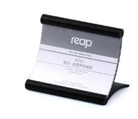 5- pack Reap Alie aluminum L- shape desk sign holder card disp...