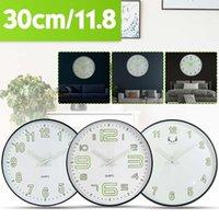 Orologio da parete Meigar creativo 12Inch Tondo silenzioso luminoso design orologio da parete al quarzo per Soggiorno Camera da letto Modern Home Decor