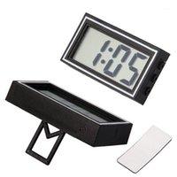 고품질 미니 Poratble 전자 자동차 데스크 데이트 시간 달력 시계 디지털 LCD 자동 트럭 시계 대시 보드 1