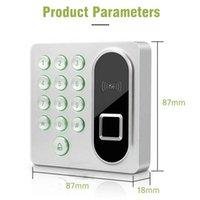 Biometrische Fingerabdruck-Zugangskontrolle RFID-Tastaturkartenleser-Türverriegelungssystem 125kHz 200 Benutzer