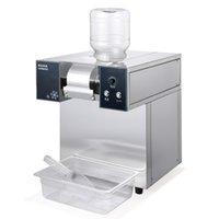 Yüksek kaliteli kar buz makinesi otomatik süt buz kırıcı süt çay dükkanı su soğutmalı traş buz makinesi yüzlü makinesi 1200W