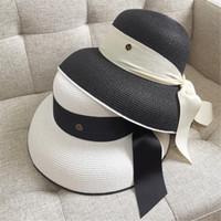 Retro Ribbon Sol Sombreros Sombreros De Moda Holiday Beach Hat Womens Wide Brim Sombreros Alta Calidad Hierba Braid Sombrero Pescador transpirable elegante Sombreros