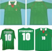 1994 National Team Retro Bolivia 레트로 축구 셔츠 클래식 10 Etcheverry 홈 그린 94 Manches Courtes Cru 빈티지 사용자 정의