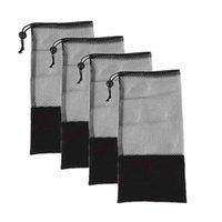 Widerstandsbänder 4 Stück Fitnessspannungsgürtel-Mesh-Tasche, geeignet für Yoga-Kugel, schwarze Mitte