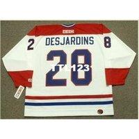 740S # 28 Eric desjardins Montreal Canadiens 1993 CCM K ay Home Hoqkey Jersey или пользовательское имя или номер ретро Джерси