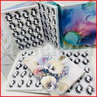 20PAIRS / مجموعة 3D المنك الرموش المنك جلدة كاذبة لينة الطبيعية سميكة وهمية أدوات الرموش 3D العين جلدة تمديد الجمال مع الصندوق الحديدي 6 ستايل