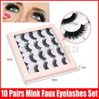 10 couples 6D mink cils longs cils d'oeil naturel extension false fausse fausse imbéconde outils de maquillage individuel de beauté