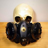 Corzzet Goldniet Black Rubber Schwarz Pipeline Steampunk Masken Cospaly Props Anti-Fog Haze Frauen und Männer Gothic Mask