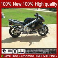 Bodys für Yamaha YZF1000R Schwarz Glossy Thunderace 1996 1997 1998 1999 2000 2001 96HC.55 YZF-1000R YZF 1000R 96 02 03 04 05 06 07 Verkleidungsset
