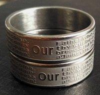 Acier inoxydable 30Factory Français Lords Lords Prière Silver Silver Steel Jésus Jésus Jésus Foi Bible Anneaux En Gros Hommes Femmes Joyau