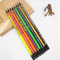 Lápis preto madeira pintada lápis HB com borrachas para escola Escrita material de escritório
