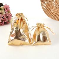 جديد 4sizes الأزياء مطلية بالذهب الشاش الحرير مجوهرات أكياس مجوهرات عيد الميلاد الحقائب حقيبة 6x9 سنتيمتر 7x9 سنتيمتر 9x12cm 13x18 سنتيمتر 41 O2