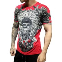 T-shirt King of Bling Crystal Crystal Chemises Homme Respirant Summer Tops pour hommes Camisetas Hombre manches courtes DY0720 1fj0