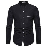 Men's Long Sleeve Embroidered Shirts Regular Standard-Fit Point Collar Shirt Casual Oxford Shirts Long Sleeve Button Down Shirt