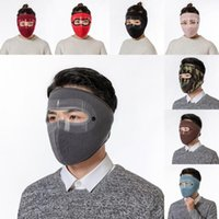 Fast Shipping Winter Warm Face Mask Fleece Lined Thick Earmuffs Balaclava Neck Warmer Hat Windproof Ski Masks for Outdoor Sports FY9223