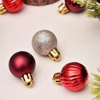 Xmas Party Christmas Tree Decor bola pendurada bola Ornamento Decoração de Natal Home decorações presente EEC2722