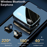 M9-17 TWS 5.1 Bluetooth Auricolari wireless TWS IPX7 Impermeabile Touch Control Sport Cuffie Auricolare Auricolare Annullare il display a LED