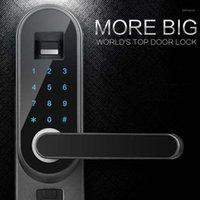 Популярный цифровой интеллектуальный биометрический палочком отпечатков пальцев Smart Lock Smart Door Block Black Fight Fingerprint High Reading Control1