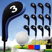 12шт / набор гольф-клубов Iron Head Covers Headcovers с Zipper Long Neck 4 Цвет 201028
