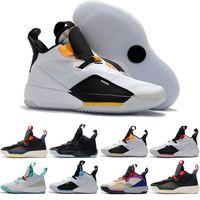 2019 Erkek Basketbol Ayakkabı XXXIII PF Uçuş kaliteli 33 Tech Paketi 33s Siyah Koyu 33 Gelecek Gri Yelken spor ayakkabıları Duman
