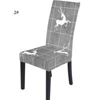 Estique Cadeira de Natal da tampa Merry Xmas Spandex Cadeira Coberta Natal de Ano Novo Elastic Chair Covers Hotel Restaurant Decoração GGE1705