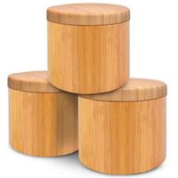 나무 향신료 도구 조미료 냄비 대나무 셰이커 설탕 소금 고추 허브 저장 병 향신료 항아리 부엌 267 N2