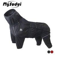 Mysudui Abrote de perros a prueba de agua Chaqueta Impermeable Reflective para perros medianos PERROS MEDIANTES OTRIENTE DE INVIERNO CALIENTE CALIENTE CALIENTE Ropa de perro Mono grande 20127