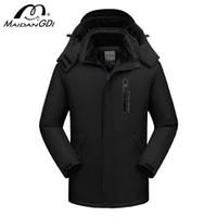 MAIDANGDI 2020 새로운 겨울은 따뜻한 면화 패딩 의류 남성용 코트 후드 패션 캐주얼 윈드 브레이커 캐나다 다운 재킷
