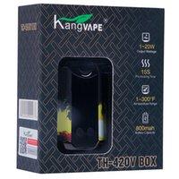 Kangwape original do Kangape Th420 Vape da caixa ajustável de 800mAH 20W Caixas ajustáveis do vape da potência do TH-420V com 0.5ml Cartins da bobina de cerâmica