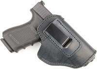 O Couro Protetor IWB Holster para Glock 19, 23, 26, 27, 29, 30, 30, 32, 33, 36, 38, 39, 43, 43x   SW MP Shield  