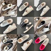 2021 Körbe Goldene super Sterne Sneakers Pailletten Klassische weiße do-alte Dirty Shoes Designer Damen Casual Schuhe Mode Trainer Beste Qualität