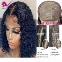 EAYON 5X5 Ipek Taban Kapatma Peruk Kıvırcık Dantel Ön İnsan Saç Peruk Brezilyalı Remy Saç Şeffaf Dantel 5x5 Saçak Üst